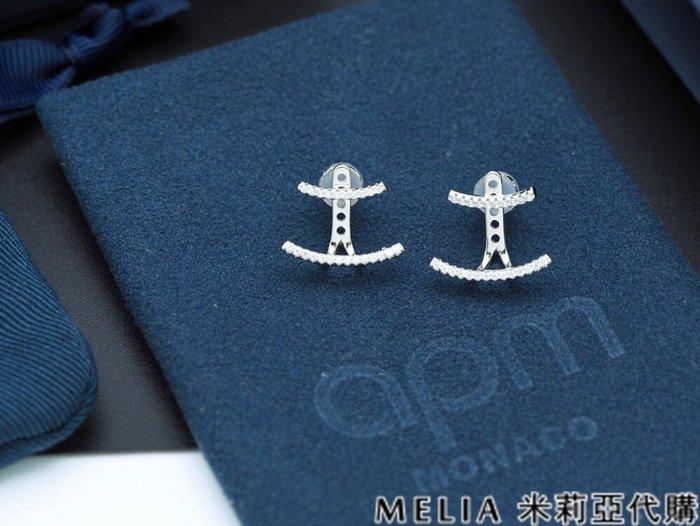 Melia 米莉亞代購 商城特價 數量有限 0812 APM MONACO 飾品 耳環 雙線條 造型耳釘