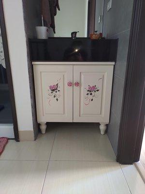 戀戀小木屋 彩繪浴櫃 原木 彩繪浴櫃 客製款