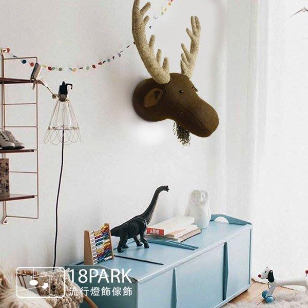 【18Park 】溫馨設計 Elk [ Fiona Walker麋鹿頭-壁掛飾 ]