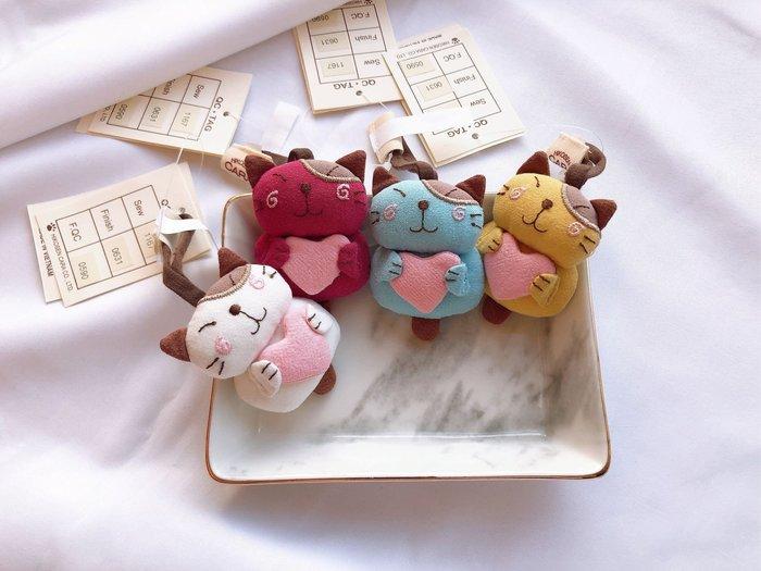 日本卡拉貓~Pon醬抱愛心吊飾