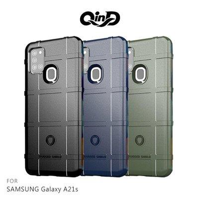 *phone寶*QinD SAMSUNG Galaxy A21s 戰術護盾保護套 鏡頭加高 保護套 手機殼