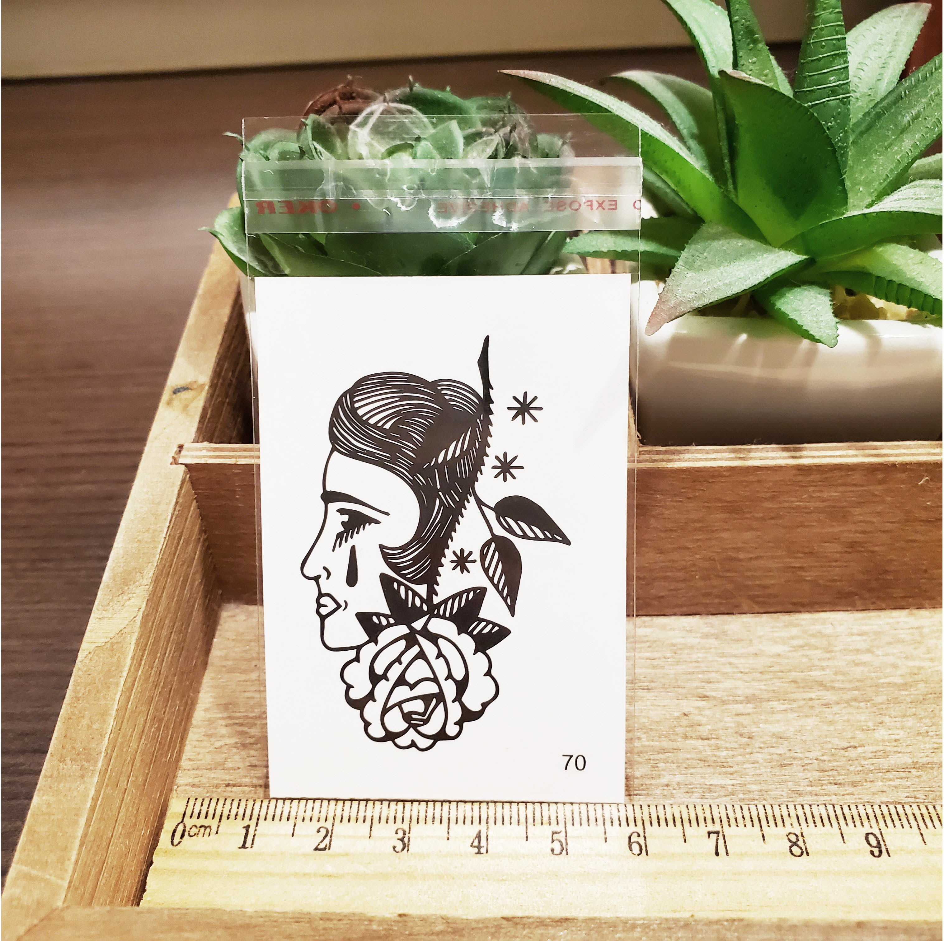 【萌古屋】百態人生70單圖 - 男女防水紋身貼紙刺青貼紙 K43