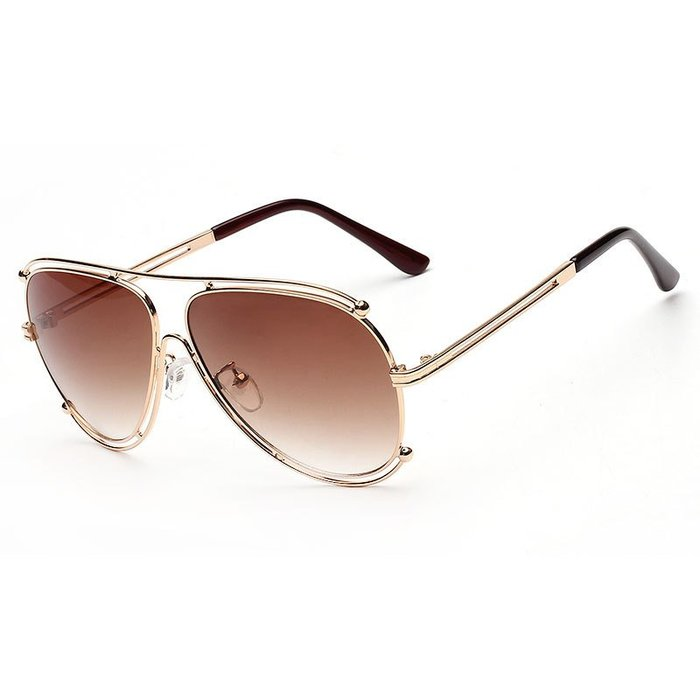 [馳騁]2001現貨7-11全家快速到貨韓國韓版鏡框墨鏡太陽眼鏡鏡框金屬潮流墨鏡 克洛同款大牌太陽鏡 批發1619