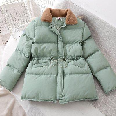 【柒姐姐】冬裝新款抽繩收腰棉衣女短款顯瘦羽絨棉服chic小款棉襖外套