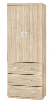 【南洋風休閒傢俱】精選時尚衣櫥 衣櫃 置物櫃 拉門櫃 造型櫃設計櫃-雪松3*7尺衣櫥 CY181-937