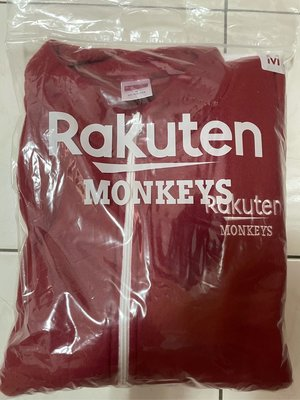 Rakuten Monkeys 樂天桃猿紅色滾邊毛料口袋立領外套 新北市