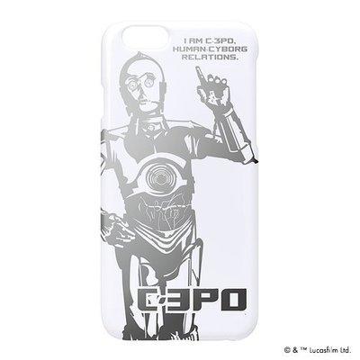 尼德斯Nydus~* 日本正版 迪士尼 星際大戰 硬殼 手機殼 白底太空銀 C-3PO  4.7吋 iPhone6