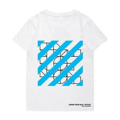 呱啦呱啦代購 明星同款T恤 短袖 圓領 SUPER JUNIOR D&E組合3rd日巡周邊衣服銀赫