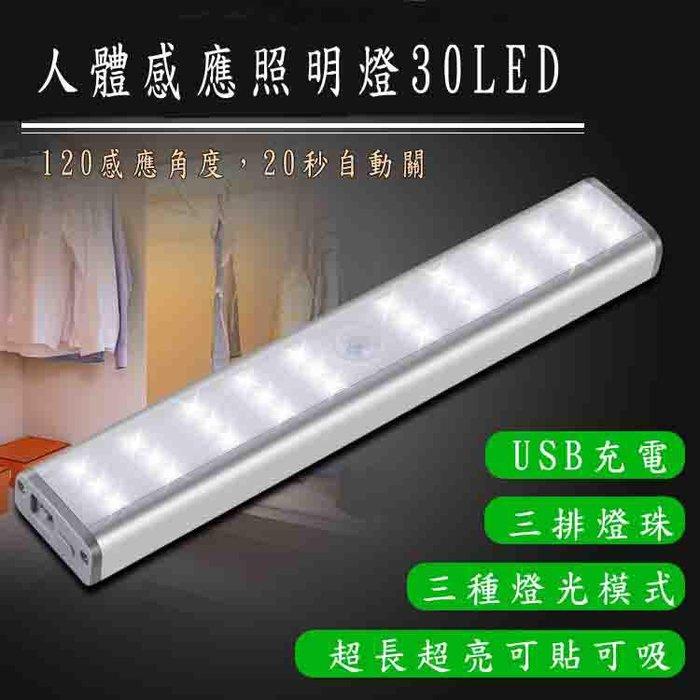 高亮度30顆 LED燈(可調亮度) 智能人體感應燈 免插電 移動式 露營燈 走廊燈 櫥櫃燈 玄關燈 光控感應燈 警示燈
