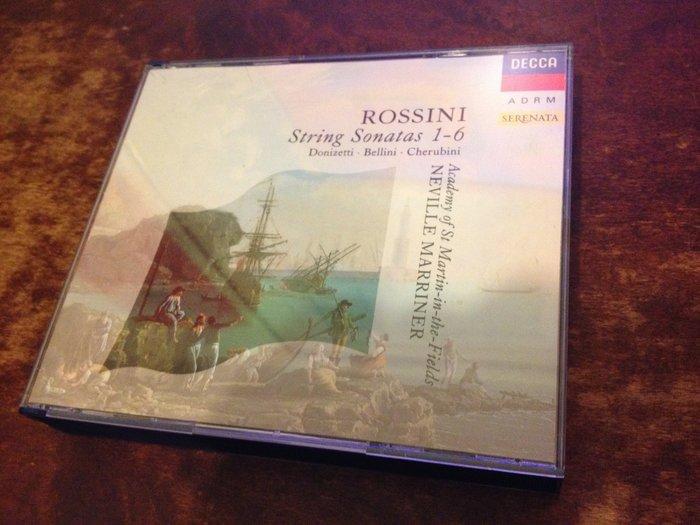 好音悅 半銀圈 Marriner 馬利納 Rossini 羅西尼 弦樂奏鳴曲集 2CD DECCA 德01版 無IFPI