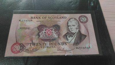 蘇格蘭(Scotland), 20POUNDS, 1993年, UNC全新, 稀少紙鈔!