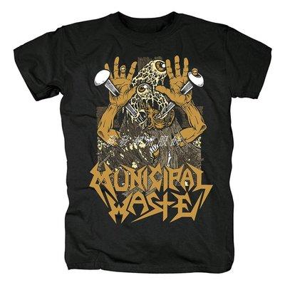 發發潮流服飾歐美Municipal Waste流行音樂激流金屬搖滾死核鞭撻金屬紀念t恤