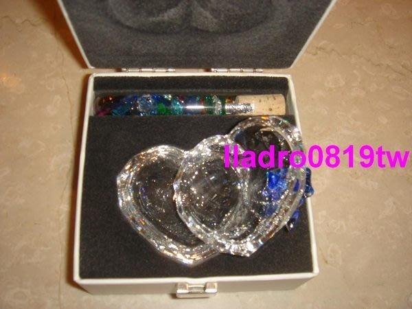 施華洛世奇水晶98年甜心首飾盒(藍蝴蝶結+水晶試管)珠寶盒 (另牛玫瑰花馬豹魚)
