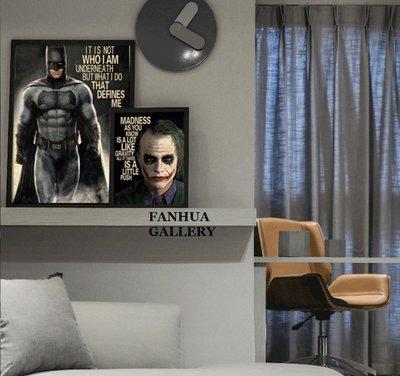 C - R - A - Z - Y - T - O - W - N DC英雄人物版畫小丑蝙蝠俠電影掛畫創意禮物英文裝飾畫