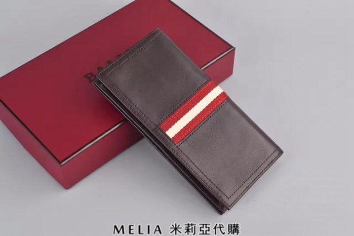 Melia 米莉亞代購 bally 貝利 2108新款 春季新品 真皮 牛皮 長夾 經典款 父親節送禮首選 咖啡色