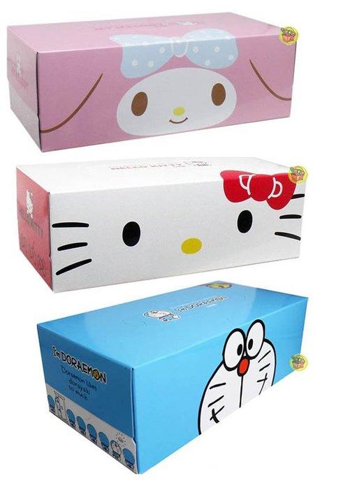 【JPGO】預購-日本製 盒裝 抽取式面紙/衛生紙 150抽(300張)~KT#941 /美樂蒂958 /哆啦a夢078