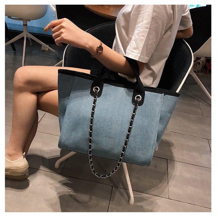 FINDSENSE X 韓國 女士 時尚 簡約 帆布 手提包 水餃包 手提袋 單肩包