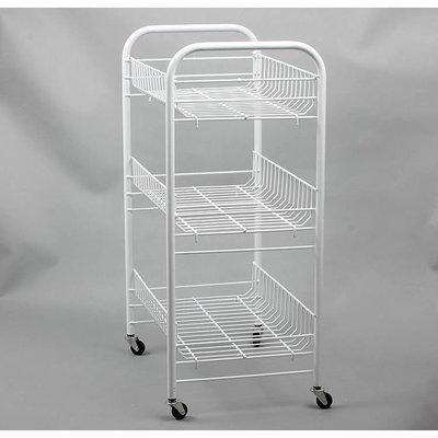 【德興】廚房蔬菜置物架三四層帶輪水果收...