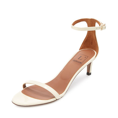 涼鞋L'Autre Chose春夏多色皮革簡約露趾一字帶女士高跟涼鞋拖鞋