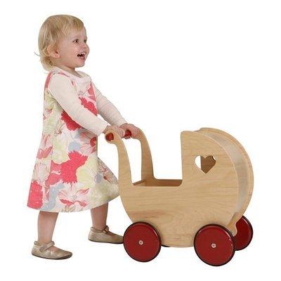 丹麥品牌moover 手推娃娃嬰兒車助步學步遊戲車木質推車
