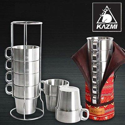 【山野賣客】KAZMI 不鏽鋼雙層馬克杯6入組(紅色) K4T3K004