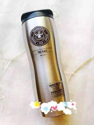 美國西雅圖派克市場創始店星巴克Starbucks金屬隨行杯保溫杯