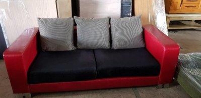 彰化二手貨中心(原線東路二手貨) ----- 出租首選  仿鱷魚皮皮革設計3人座沙發  沙發