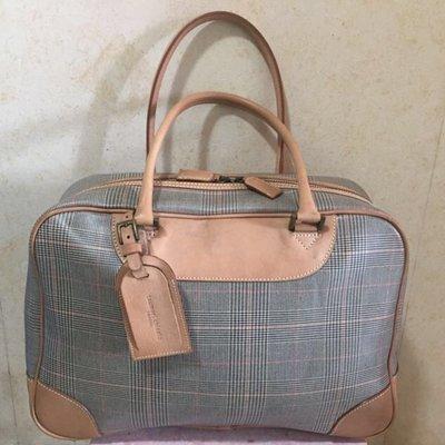 清衣櫃Tsumori Chisato travel 格仔手提袋 亦可上膊 旅行袋