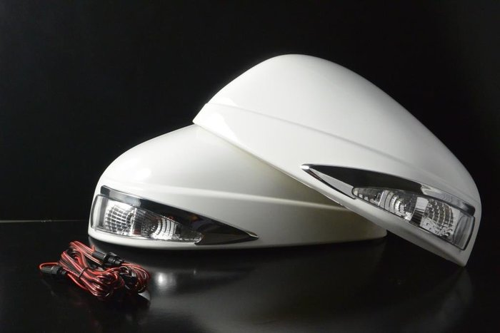 金強車業 LUXGEN U6 2014-ON 改裝後視鏡殼 (黑6BL) 單功能側燈  方向燈 日行燈