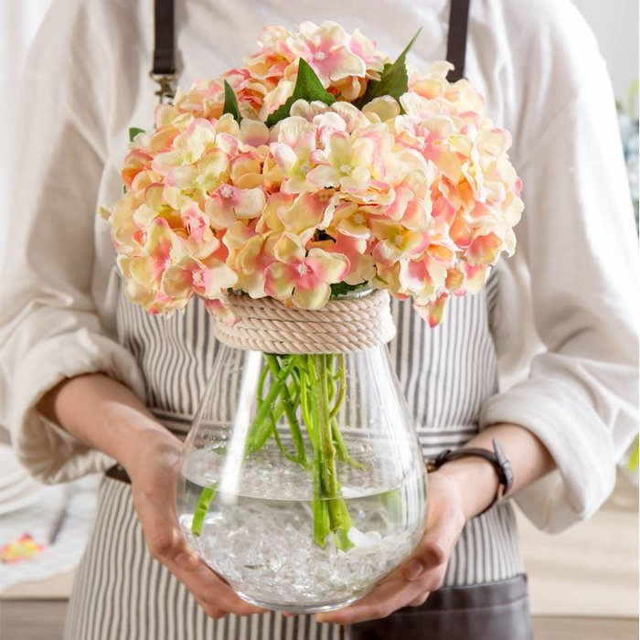 〖洋碼頭〗現代簡約創意個性水培玻璃透明花瓶擺件幹花假花仿真裝飾個性大號 fjs263