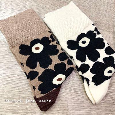 現貨+預購 日本雜貨  罌粟花 棉質 女襪 彈性襪  marimekko 可參考