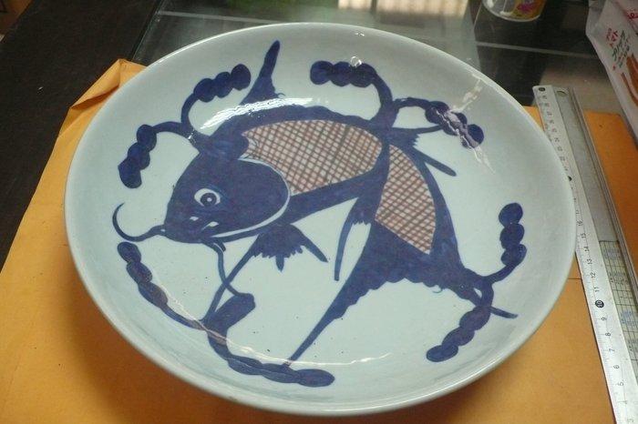 紫色小館89-------清-大青花魚盤