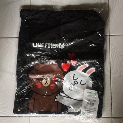 Line Friends 全新黑色背袋