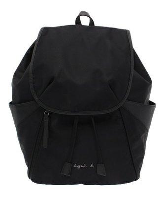 ~品味倉庫 ~日本 agnes b 黑色  防潑水 尼龍 大容量 後背包