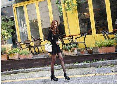 零碼出清現金價_品名: 新款韓版連衣裙(黑色) J-10980