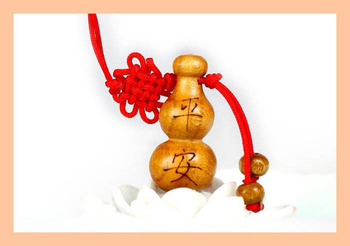 【螢螢傢飾】【五福臨門--平安】福禄,平安,吉祥,如意,旺财,桃木雕刻 手機吊飾,招财辟邪吉祥物