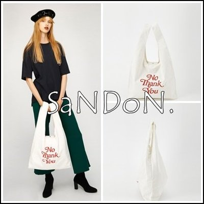 SaNDoN x『moussy』環保系列 簡約字母帆布袋 sly snidel 韓妮 180803