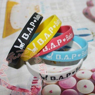 現貨出清特價👍(不挑色)BAP B.A.P 彩色矽膠手圈 應援手圈手環 E465-B【玩之內】韓國 韓團