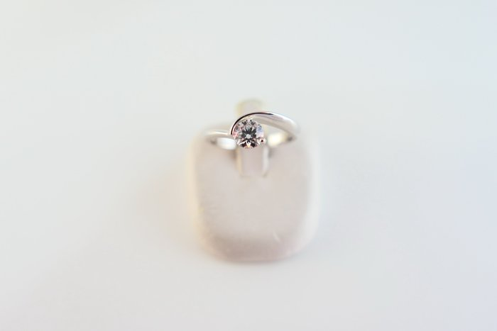 [吉宏精品交流中心]京華鑽石 GIA 天然鑽石 44分 D/IF 3EX 八心八箭 白K金 戒指(盒卡全)