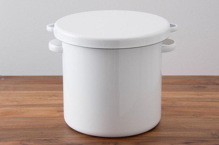 [ 偶拾小巷 ]日本製野田琺瑯食材儲存罐醃漬缸24cm 10公升