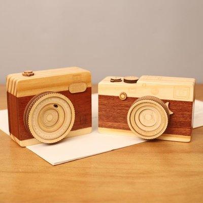 創意diy個性木質音樂盒八音盒玄關裝飾工藝品擺件送女生生日禮物『全館免運,滿千折百』