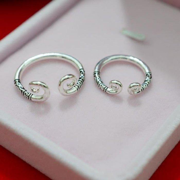 鍍金戒指 緊箍咒情侶對戒一對男士女款尾戒悟空金箍棒飾品潮人個性