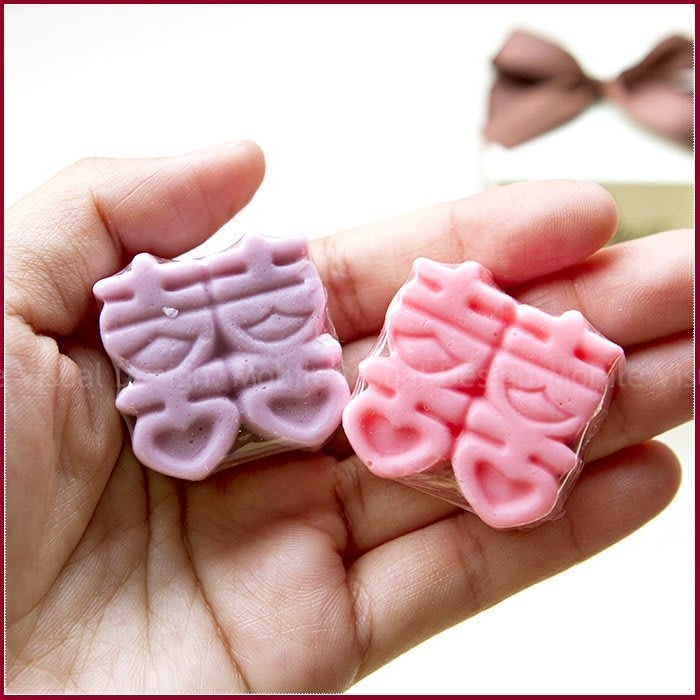 *幸福朵朵*╯【楓葉囍字皂禮盒】-精油手工皂/玫瑰香皂/送客禮/二次進場/婚禮小物批發