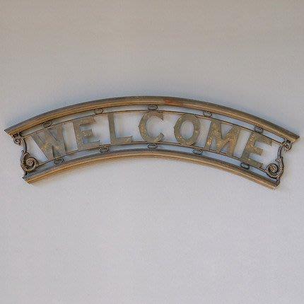 美式複古掛鉤船槳置物架置物籃筐工業風歡迎光臨WELCOME門頭壁飾