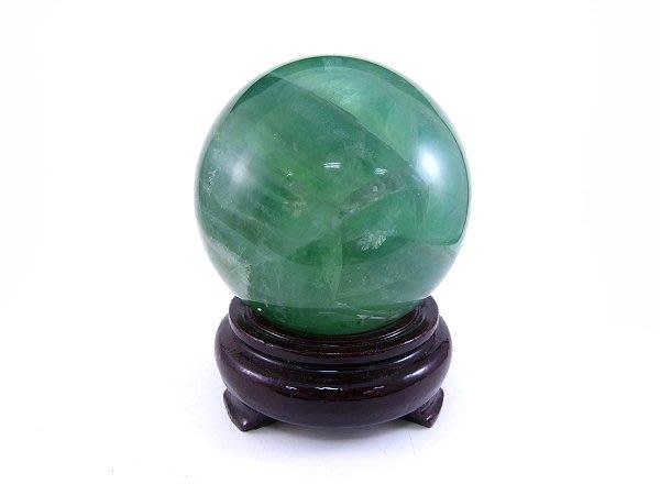 ☆寶峻鹽燈☆新貨到~螢石球/瑩石球 綠瑩石球 直徑9.3cm  AR-662