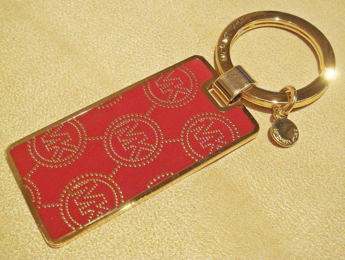 全新日本帶回 Michael Kors MK 紅色金色鑰匙圈,含原外盒標籤,低價起標無底價!本商品免運!