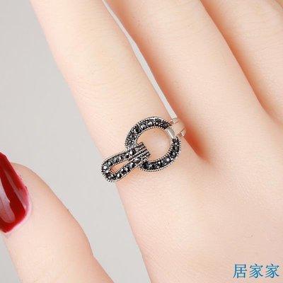 居家家 簡約時尚復古水鉆環食指戒指女日韓潮人個性裝飾戒子轉運指環飾品