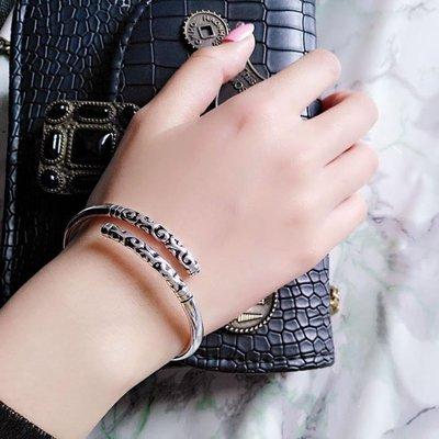 純銀手鐲情侶男女簡約時尚百搭手環鏈