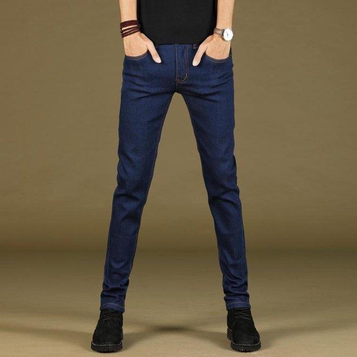 牛仔褲 黑色男士牛仔褲修身小腳加厚土韓版潮流冬季秋冬款緊身男褲子sys