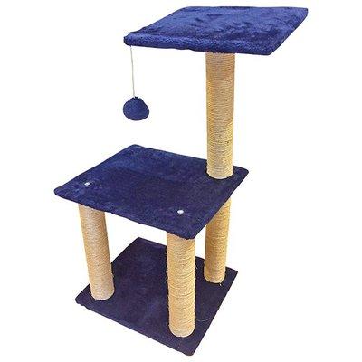 ✪第一便宜✪貓跳台 BCT0005 跳台 寵物跳台 貓玩具 耐抓穩固 絨毛米白深藍款